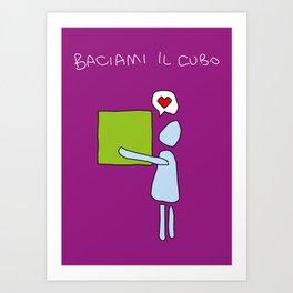baciami il cubo Art Print