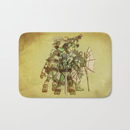 Steampunk Ninja Turtles Bath Mat