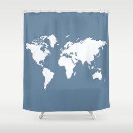 French Gray Elegant World Shower Curtain