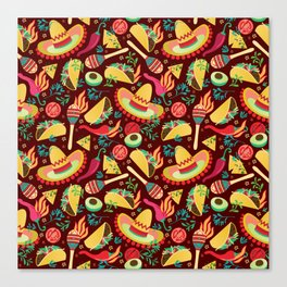 Spicy taco Canvas Print