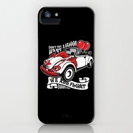 Scary Clown Car, Inspired By The Horror Movie IT iPhone Case