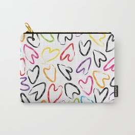 hearts doodle pattern Carry-All Pouch