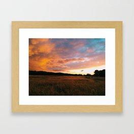Field Sunset Framed Art Print