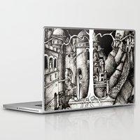 gondor Laptop & iPad Skins featuring The dark plague by Anca Chelaru