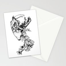Prehistoric Bloom - The Cat Stationery Cards