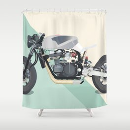 Motorcycle Racket Shower Curtain
