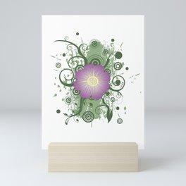 Purple flower Mini Art Print
