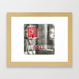 D is for doll Framed Art Print
