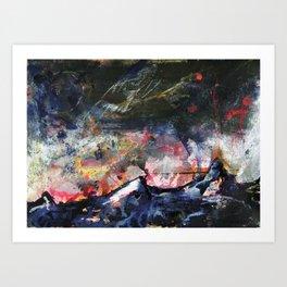 Mountains V Art Print