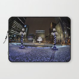 The Perfect City Winter Scene Laptop Sleeve