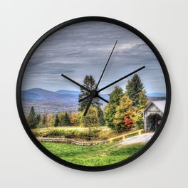 A M Foster Covered Bridge Wall Clock