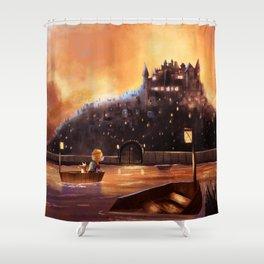 The Evil city Shower Curtain