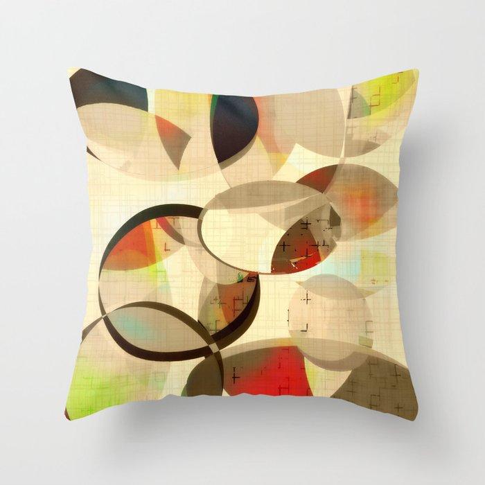 Mod Art Circle Art Mid Century Modern Throw Pillow By Amylighthall