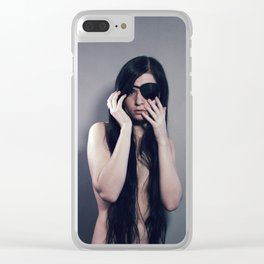 Future Pirate Queen - Self Portrait - long hair eye patch sensual Clear iPhone Case