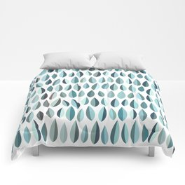 Mid-Century Modern Leaf pattern Collection 3 Comforters