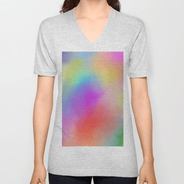Modern abstract bold colors watercolor pattern Unisex V-Neck
