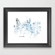 Drink N' Draw Framed Art Print