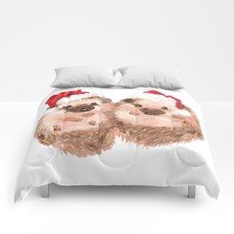 Christmas Twin Hedgehog Comforters