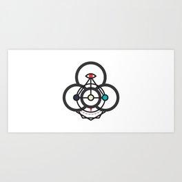 Process Compass Art Print