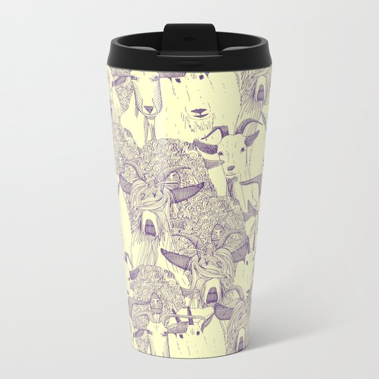just goats purple cream Metal Travel Mug