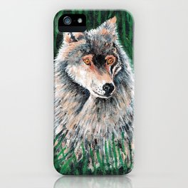 Grey Canadian Wolf iPhone Case