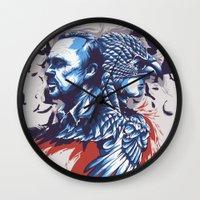 birdman Wall Clocks featuring Daily Film #3 - Birdman by Hyung86