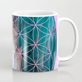 Crystal flower of life | Secret Geometry Coffee Mug