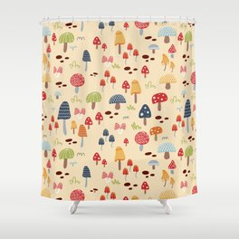 Mushroom Fields Shower Curtain