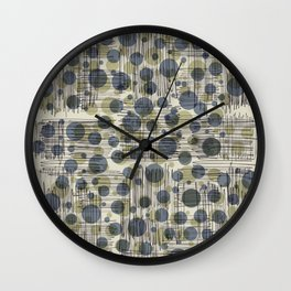 Soda Water Scribble Wall Clock