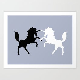 Duel-I-Corns Art Print