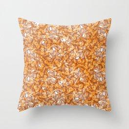 Trompe-l'œil - Starfruit vs. Autumn Throw Pillow