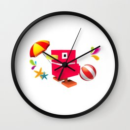 Duck Royale 3D - Game Paused Design Wall Clock