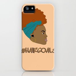 #hairgoals iPhone Case
