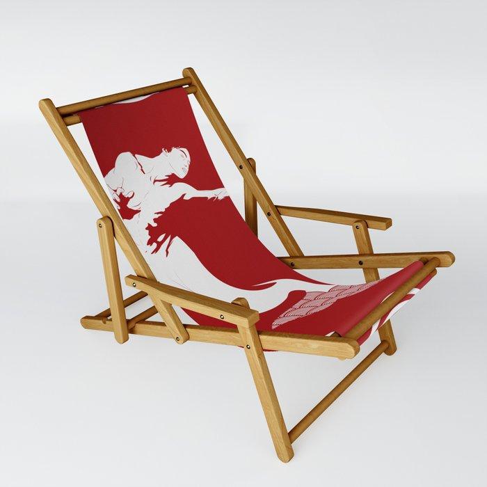 Merman - Red & White - Mermay 2019 Sling Chair