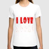 boobs T-shirts featuring I love boobs by siti fadillah
