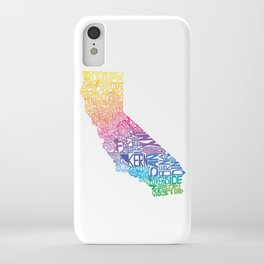 Typographic California - Springtime iPhone Case
