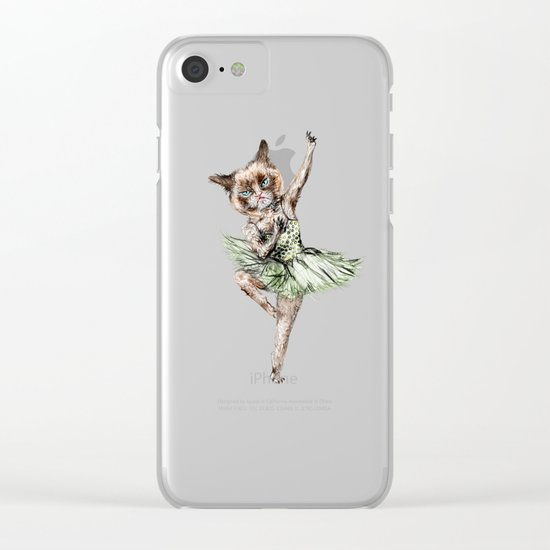 Siamese Ballerina in Cat Ballet  Clear iPhone Case