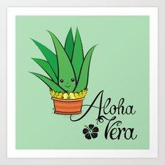 Aloha Vera Kawaii Art Print
