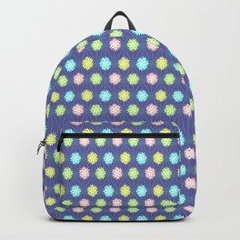 deep blue hemp pattern flowers Backpack
