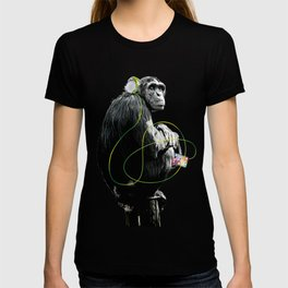 Monkey Listens to Music T-shirt