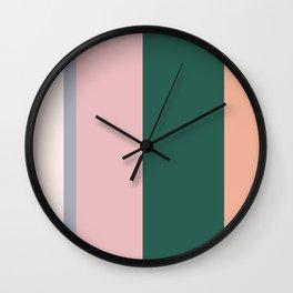 Green and Pink Pastels Wall Clock