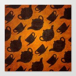 Teapots Cups Design Symbol Texture Pattern Canvas Print