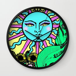 Tarot The Sun Wall Clock