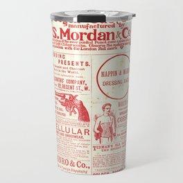 The old newspaper, vintage design illustration Travel Mug