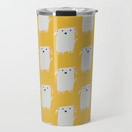Cute sweet Dog Yellow Travel Mug