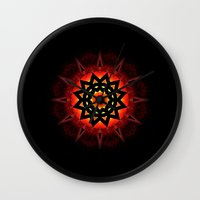 drums Wall Clocks featuring Drums in the Deep by Mr. Pattern Man