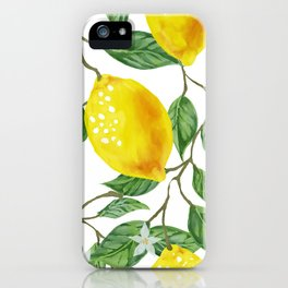 TROPICAL LEMON TREE iPhone Case