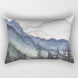 Mountains at Dawn Rectangular Pillow