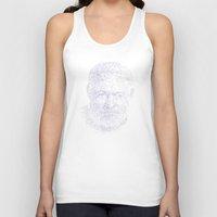 hemingway Tank Tops featuring Ernest by Stop::mashina ~Runes