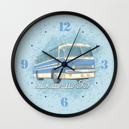 Ikarus 55 blue Wall Clock